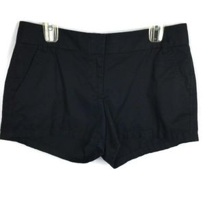 J Crew Shorts Size 8 Chino Broken In Black Cotton